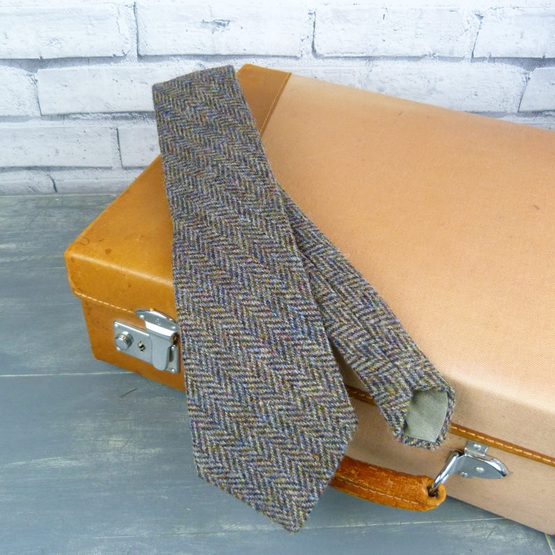 Tweed Neck Tie Etsy