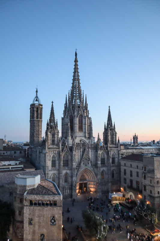 Barcelona Cathedral Sunset