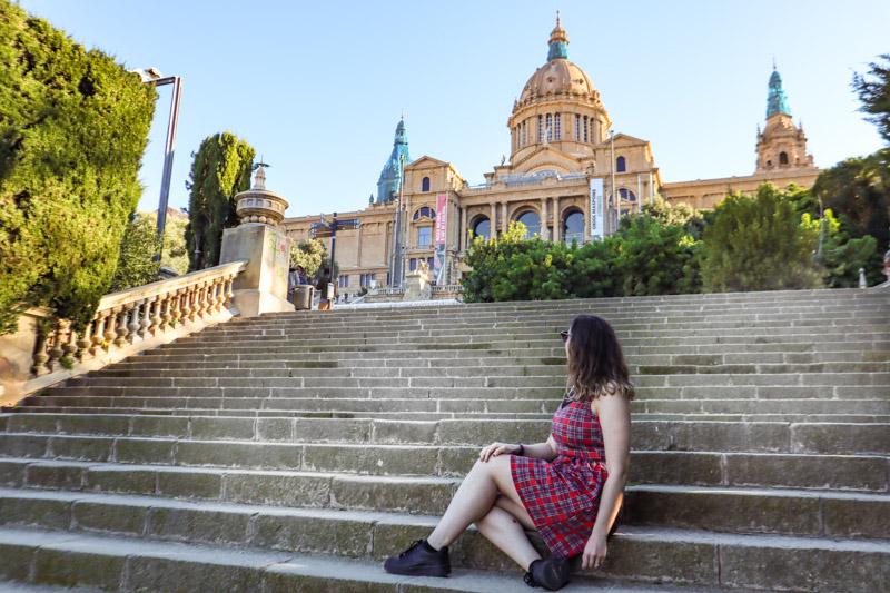Barcelona Palau Nacional Stairs Gem