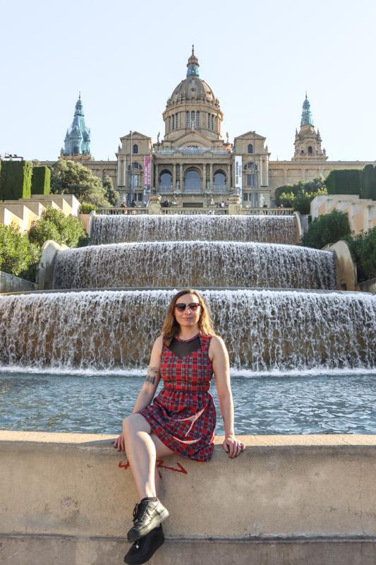 Barcelona Palau Nacional Waterfalls Gemma