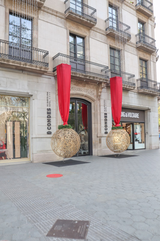 Barcelona Store Christmas Decorations