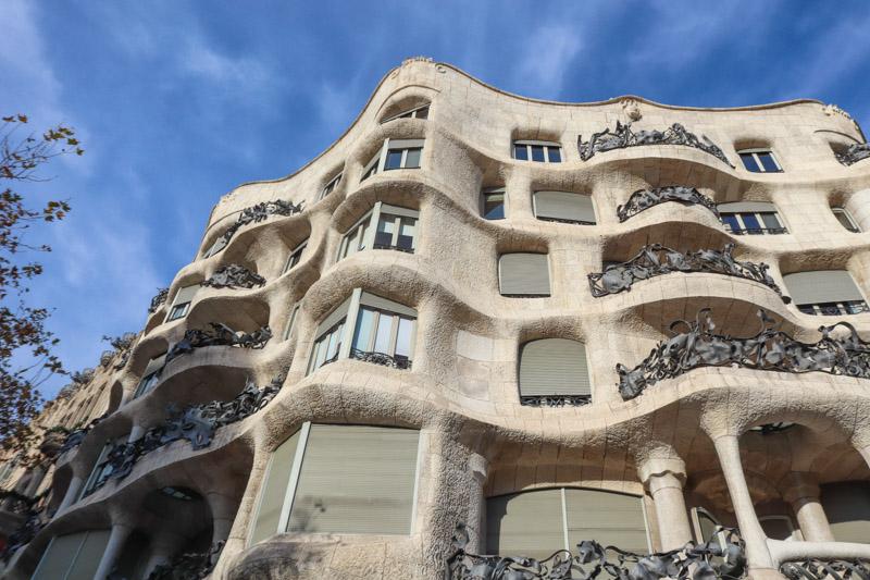 Casa Mila Gaudi in Barcelona_
