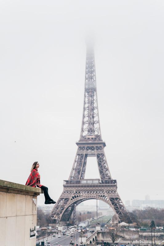 Eiffel Tower Gemma sitting clouds
