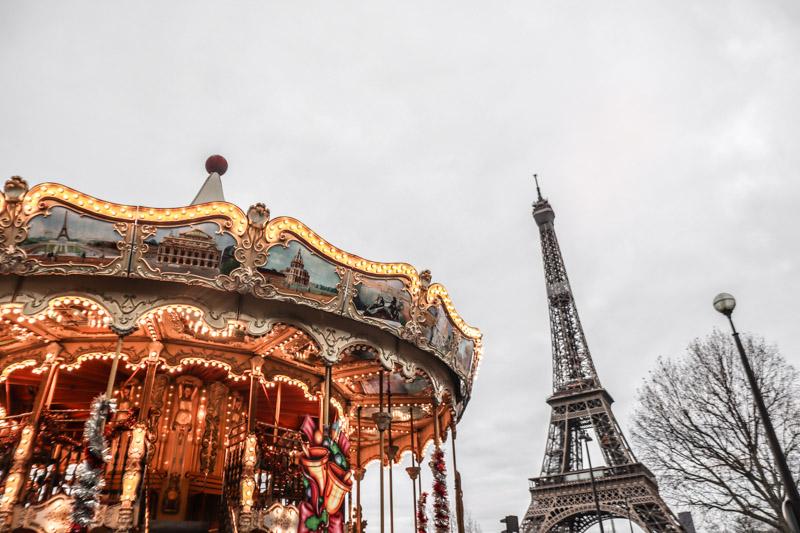Eiffel Tower Merry Go Round Paris_