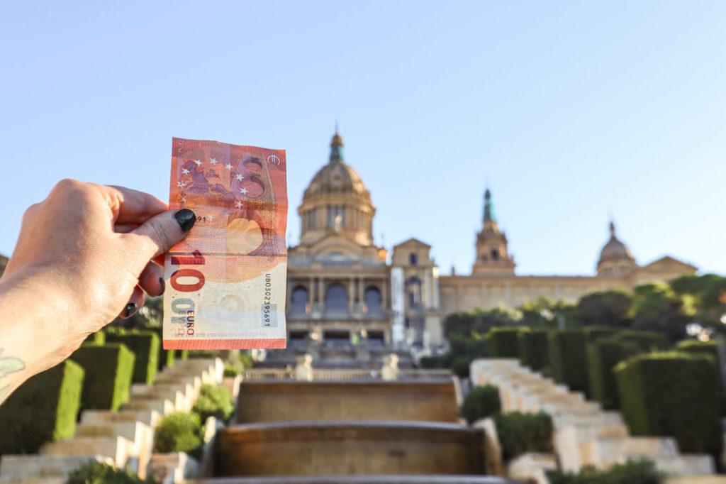 Euros in Barcelona