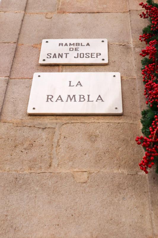 La Rambla Sign Barcelona_