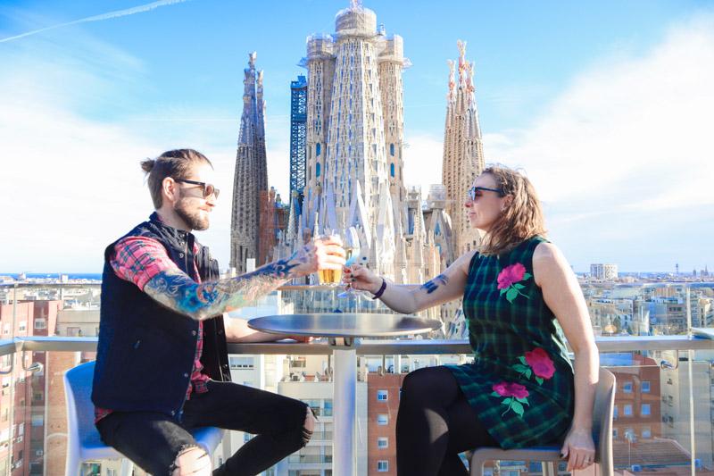 La Sagrada Familia Ayre Hotel Roodtop Gemma and Craig Armit