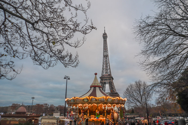 Paris Eiffel Tower Merry Go Round