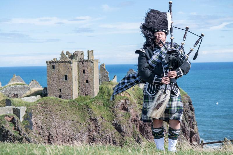 Piper at Dunnottar Castle Aberdeenshire