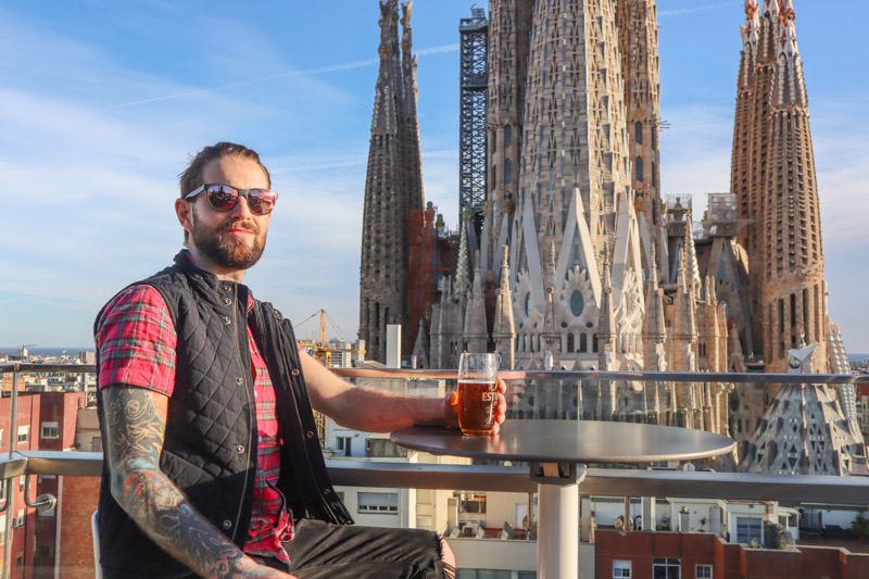 Sagrada Familia Ayre Hotel Rooftop Craig Armit Wearing Bluffworks