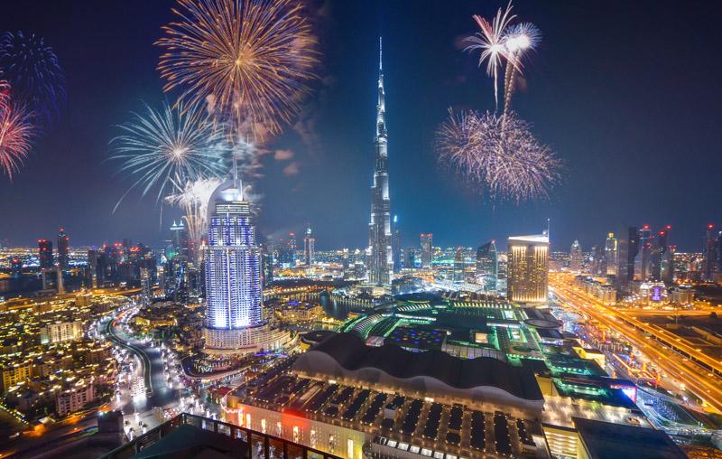 Burj Fireworks Dubai New Years Eve