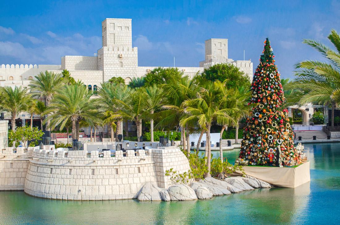 Christmas tree in Madinat Jumeirah, Dubai