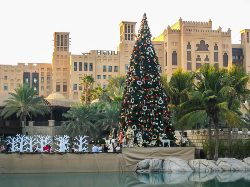 Christmas tree in the center of Dubai