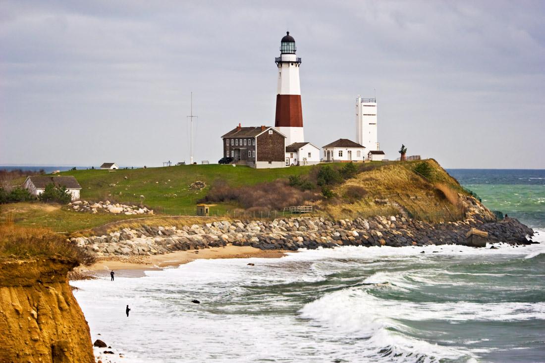 Long Island lighthouse coastal view