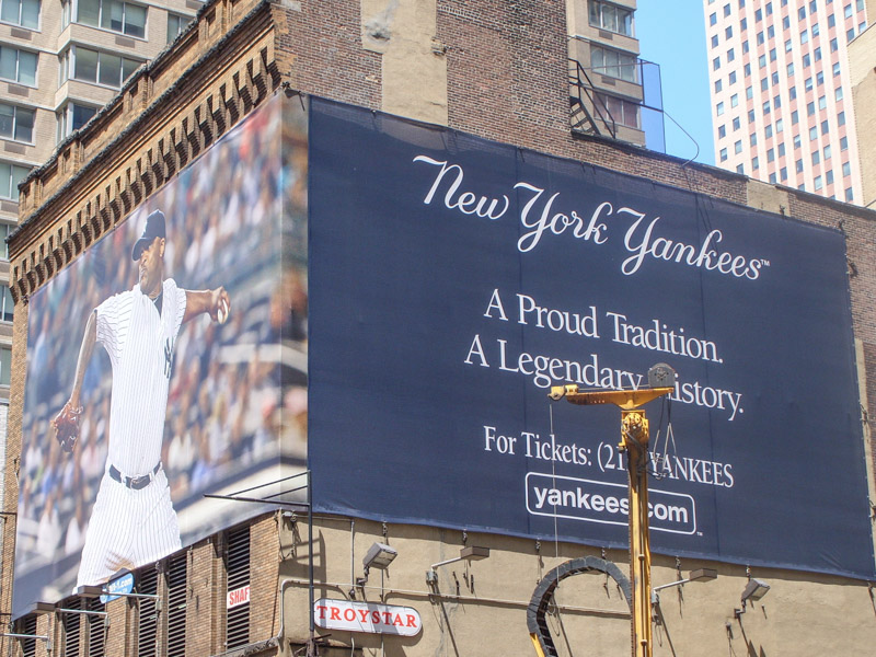 New York Yankees Advert