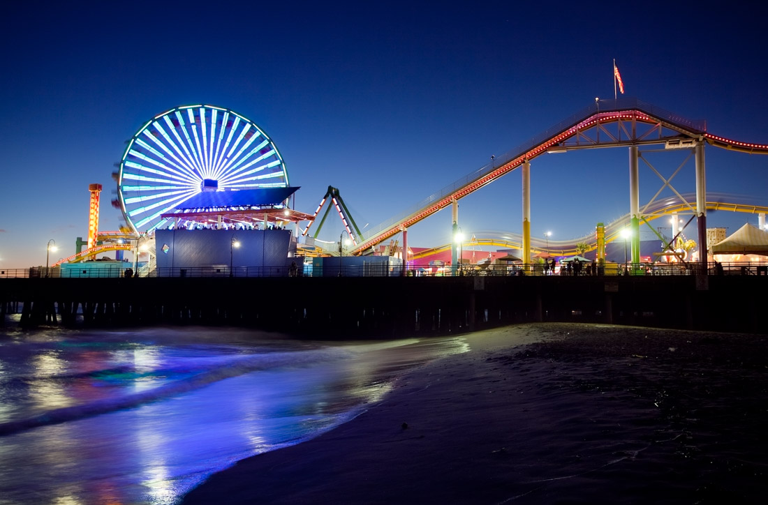 Night view of Santa Monica Pier