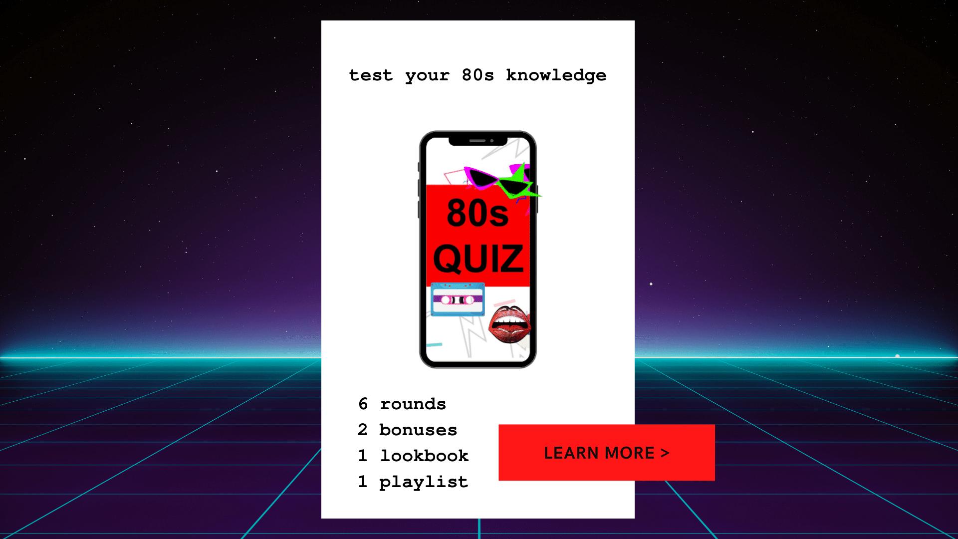 80s Quiz Callout