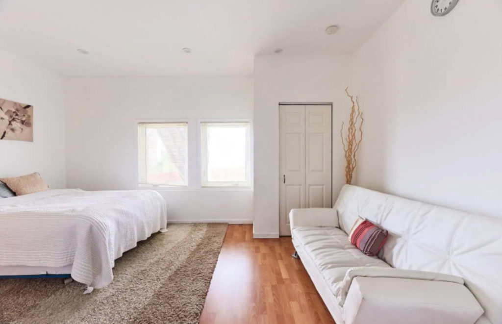 Beach and Golden Gate Park Airbnb White Spacious Living Room