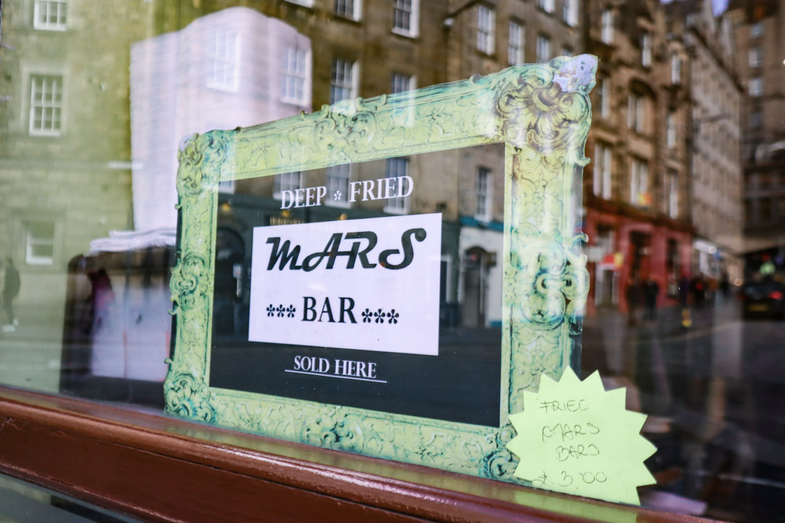 Deep Fried Mars Bar Food Grassmarket Edinburgh
