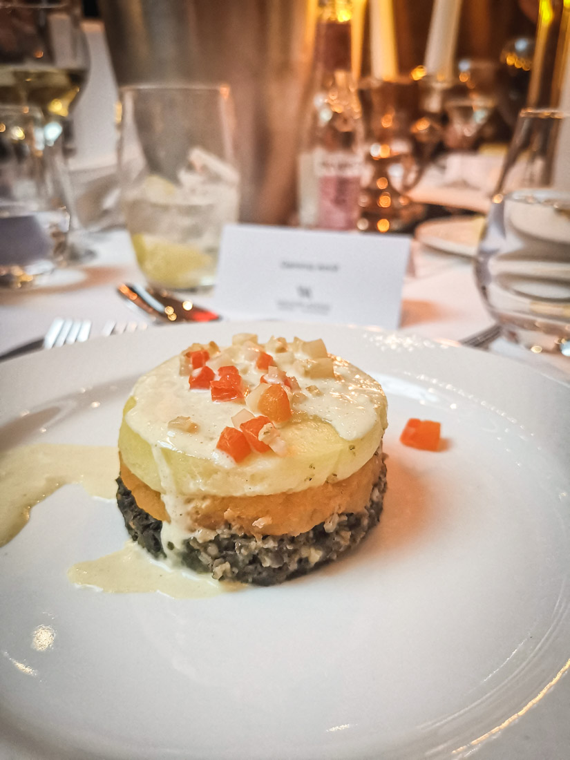 Haggis Tier Waldorf Astoria Edinburgh Caledonian Edinburgh Food Hotel