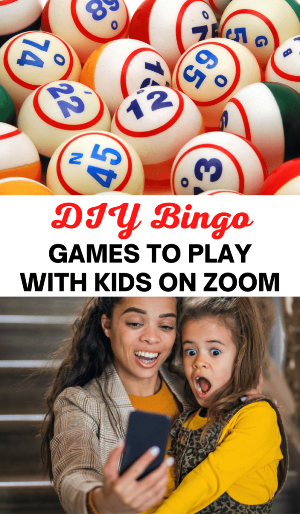 Bingo. Zoom games to play with kids and Zoom activities