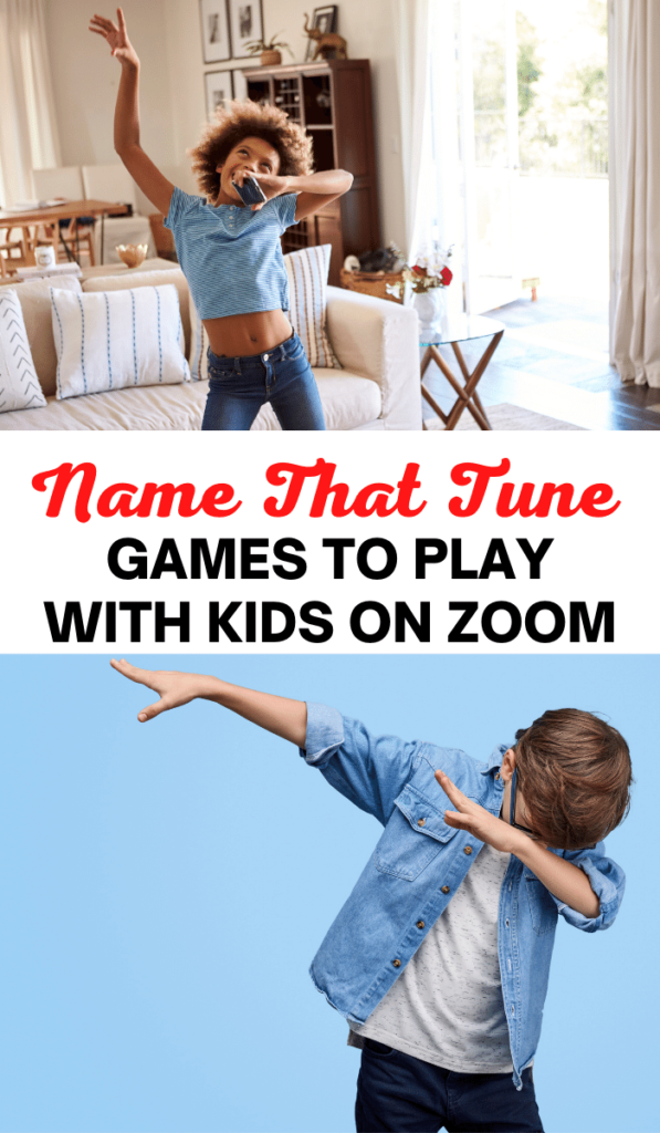 Name that tune. Zoom games to play with kids and Zoom activities