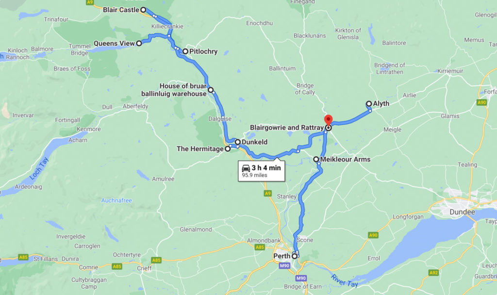 Perthshire Road Trip Map