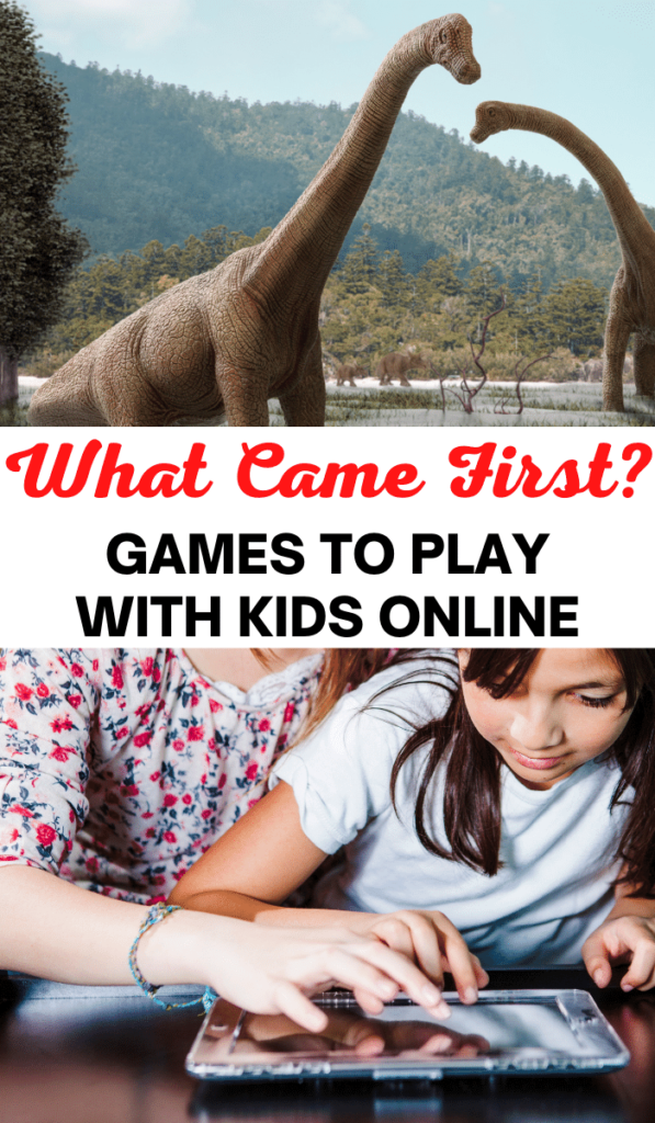 What Came First. Zoom games to play with kids and Zoom activities