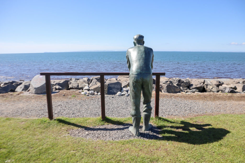 Fisherman Statue by Andrew Brown 1999 Luce Bay Port William