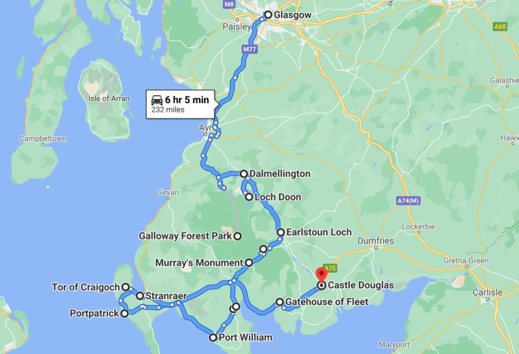 South West Scotland Map