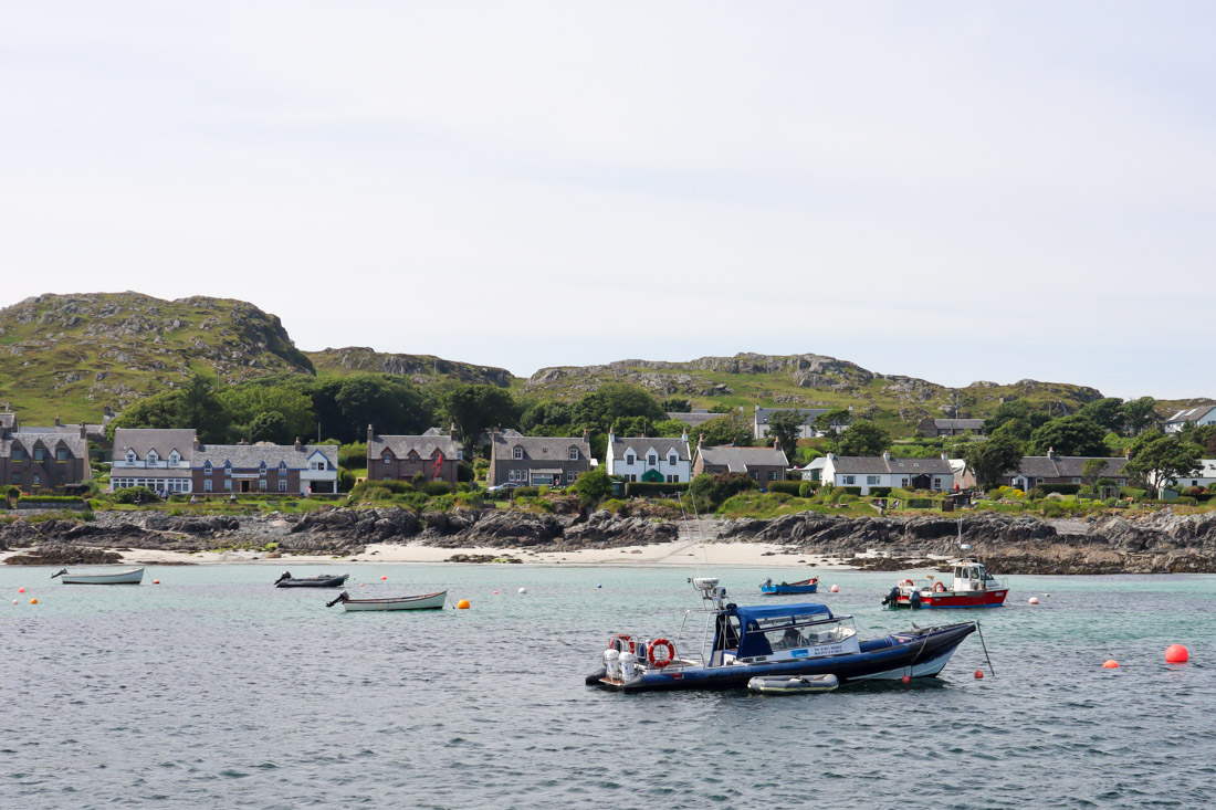 Iona Beach Boats in Scotland