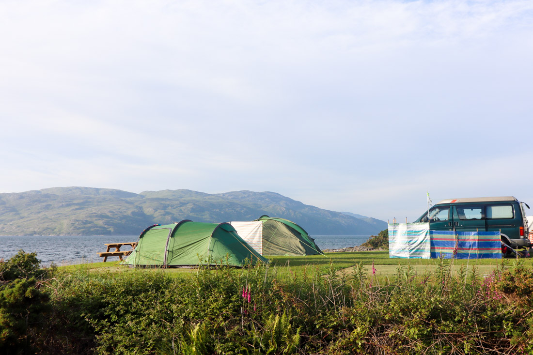 Shieling Holiday Campsite on Mull Scotland